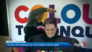 12-year-old Fundraiser colours his hair to help mom conquer cancer